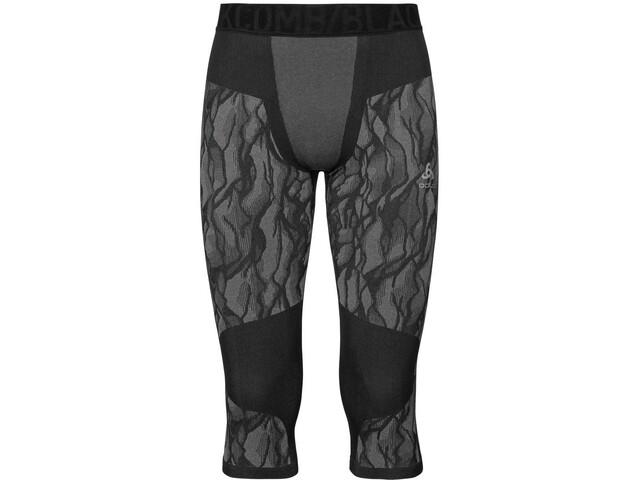 Odlo Blackcomb Pantaloni a 3/4 Uomo, black/odlo steel grey/silver